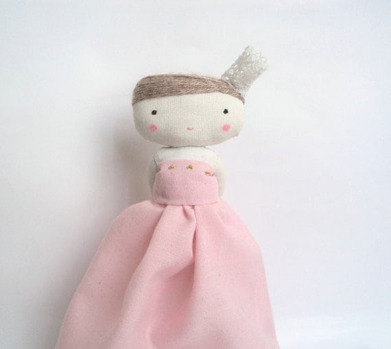 Princess and the pea - fairy tale cloth art rag doll made to order