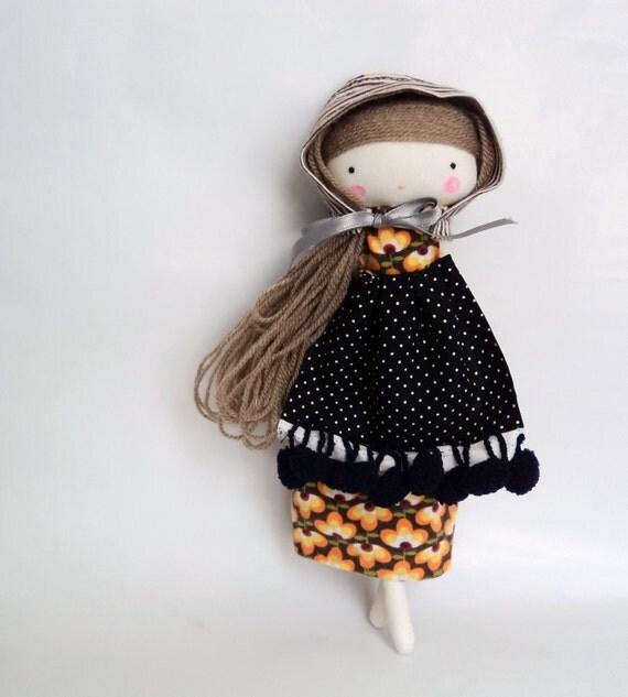 matryoska rag doll - babushka folk doll cloth