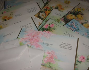Set of 12 Trifold Mint Condition Vintage Coronation All Occasion Greeting Cards