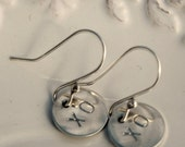 Hugs and Kisses sterling silver earrings XO