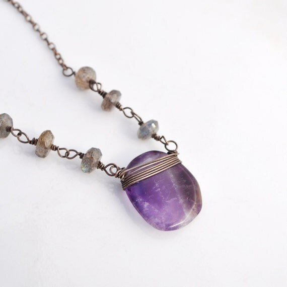 Calming amethyst amulet