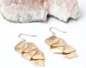 Layered Gold Geometric Square Earrings
