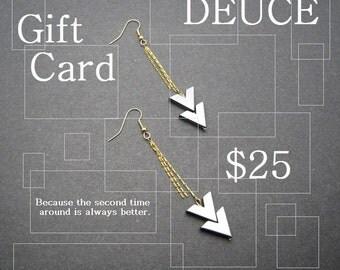 25.00 Dollar Gift Card