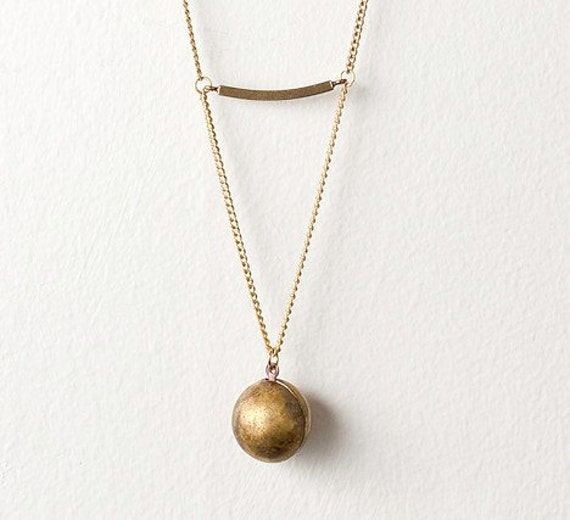 Ball, Chain, and Pyrite Necklace - Last One