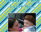 Custom Board Book 5x5 Things I love about you