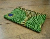 African wax print fat quarter 100% cotton (Funky Green circles)