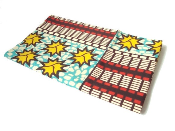 African wax print fat quarter 100% cotton (stars and stripes)