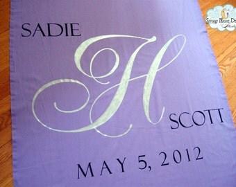 Aisle Runner, Wedding Aisle Runner, Custom Aisle Runner, Lavender Aisle Runner with Monogram on Quality Fabric that Won't Tear