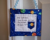 Space Galaxy Personalized Tooth Fairy Pillow