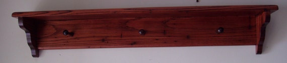 Wormy Chestnut finished in Red Mahogany