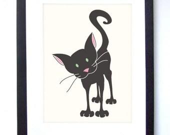 Curious Kitty Print 8x10