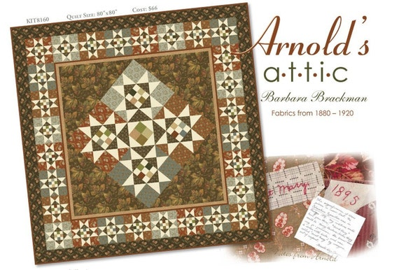 Arnolds Attic Quilt Kit by Barbara Brackman for Moda Fabric - Free Shipping in US