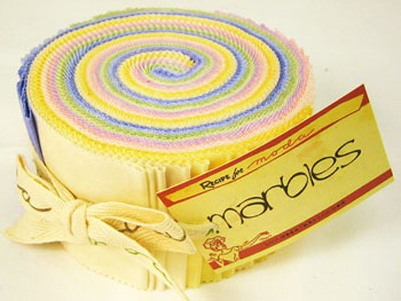 CLEARANCE - Jelly Roll - Moda's Marbles in Pastels