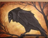 MYSTERY IN THE AIR Raven Crow 14x11 PRINT