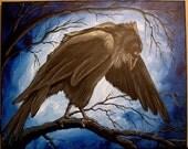MIDNIGHT DANCER Crow Raven 14x11 PRINT