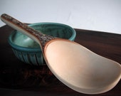 eco carved deer valley mountain maple serving spoon