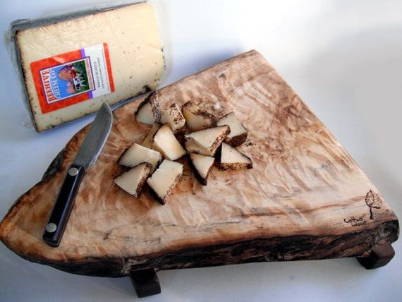 reclaimed super figure raised cottonwood cheese board