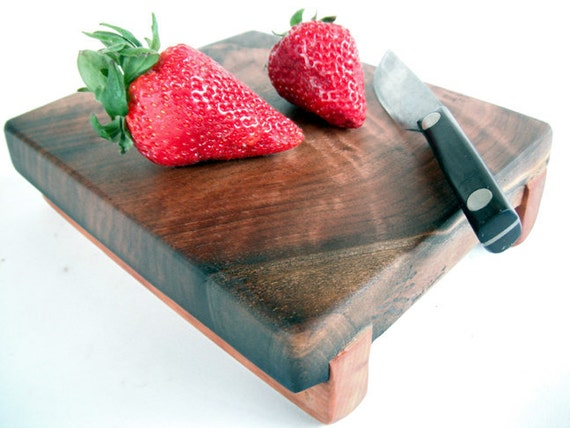 reclaimed local curly black walnut serving/cutting board