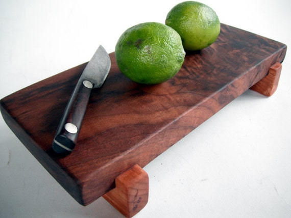 reclaimed local black walnut serving/cutting board