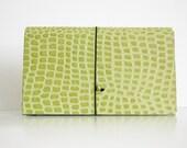 Lime Crocodile  ACCORDION Coupon Pocket Book