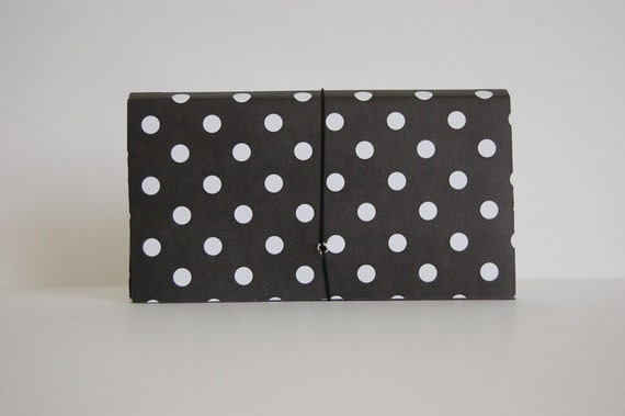 Coupon Organizer/Accordion/ File/Holder/Black&White/ Polka Dot