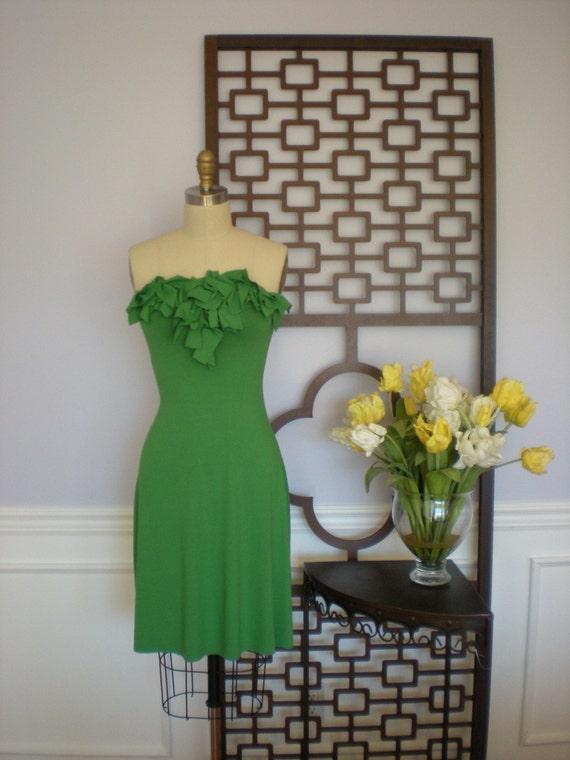 Calhoun Street Palm Green Jersey Dress