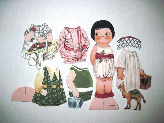 Fabric paper doll, Jamar