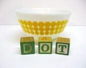 Vintage Pyrex New Dot Mixing Bowl - Yellow Polka Dot