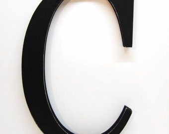 Wood Letter C Sign - 15 Inch - Black - Distressed - Initial - Monogram - Personalized - Nursery Decor  - Wedding Decor - Gallery Wall Decor