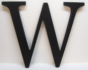 Wood Letter W Sign - 15 Inch - Black - Distressed - Initial - Monogram - Personalized - Gallery Wall Decor - Wedding Decor - Nursery Decor