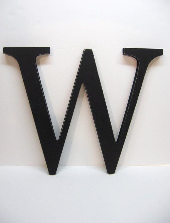 Wood Letter W Sign - 15 Inch - Black - Distressed - Initial - Monogram - Personalized - Gallery Wall Decor - Wedding Decor - Nursery Decor
