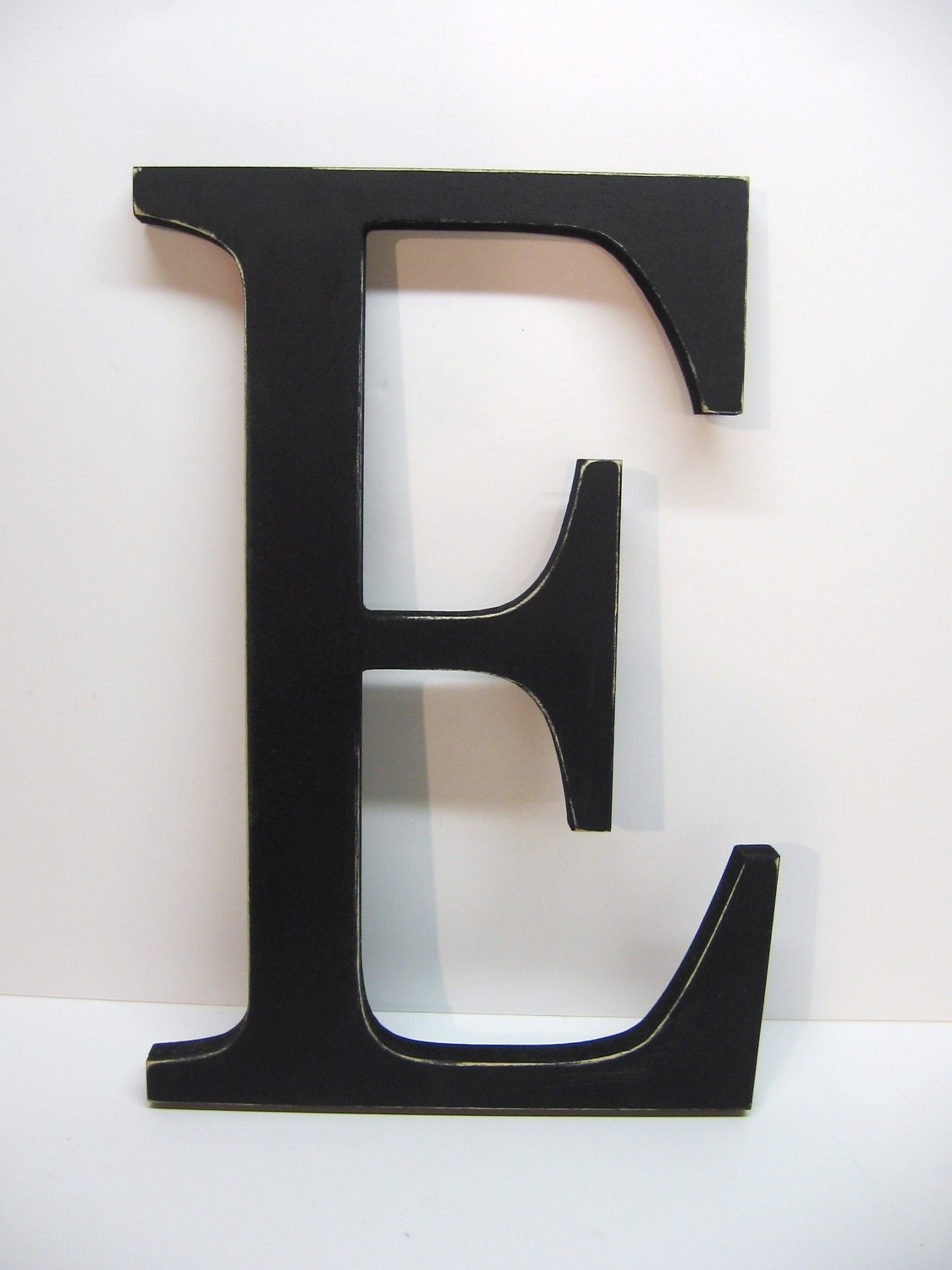Letter E Wall Decor Wood Letter E Sign 15 Inch Black Distressed Initial
