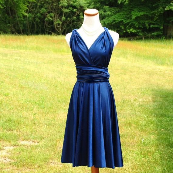 Convertible Dress / infinity dress/ bridesmaids dress NAVY