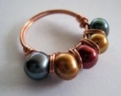 ARIEL Copper Pearl Ring