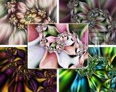 Beautiful Fractal Art - 12 Handmade Greeting Notecards