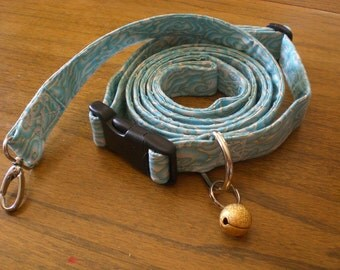 SALE: Japanese Clouds Dog Collar and Leash Set