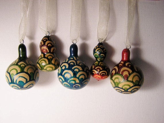 Gorgeous Gourds holiday ornaments