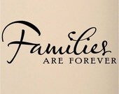Family wall decal Vinyl lettering wall word Quotes sticky letters decals Families are forever