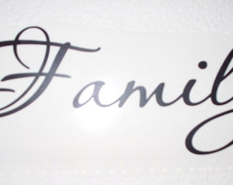 FAMILY,,,, vinyl lettering wall words Quotes sticley letters decals DIY