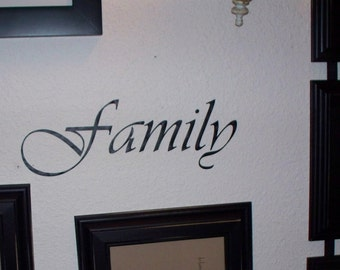 Family wall decal vinyl lettering wall words quotes DIY