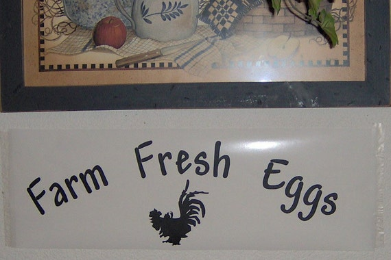Chicken Egg Quote: Items Similar To DIY Kitchen Wall Decals Farm Fresh Eggs