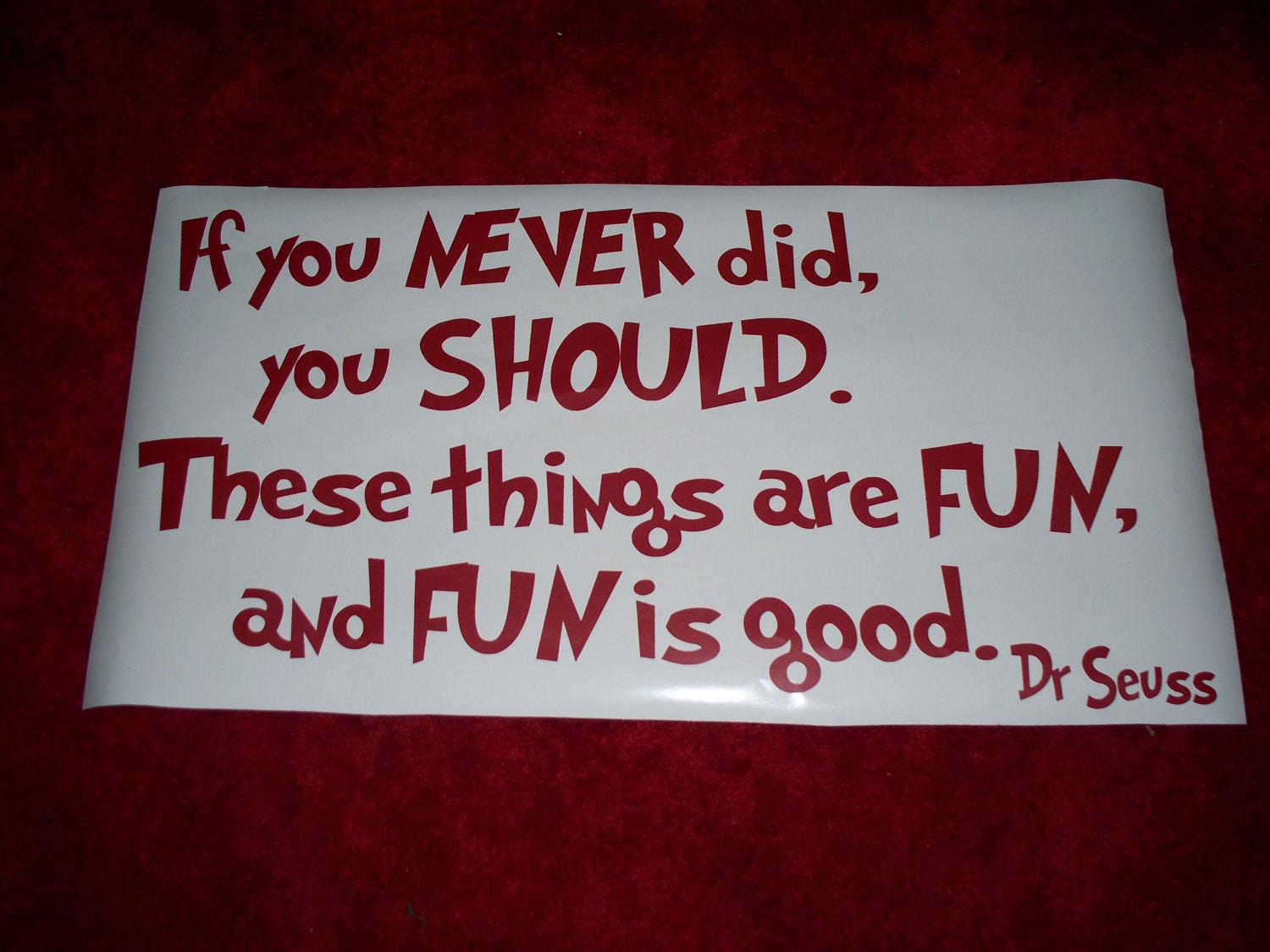 Dr Seuss Quote Wall Decal If You Never Did You Should Vinyl