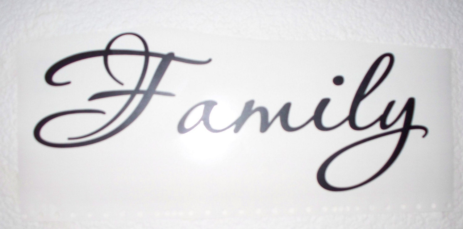 Family Vinyl Lettering Wall Words Quotes Sticley Letters