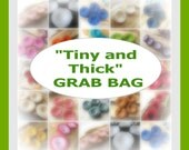"""Handmade fabric flower appliques / embellishments (4 pcs) - GRAB BAG- Select your own set of """"Tiny and Thick"""" flowers"""