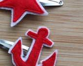 Drop The Anchor And Furl The Sails, Star 'N' Anchor Hair Clips