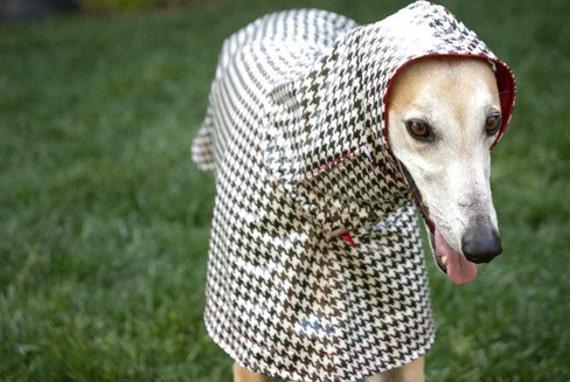 Dog Raincoat Slicker - Houndstooth