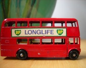 Vintage Matchbox Series Red Double Decker Routemaster Bus Number 5 by Lesney