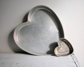 Vintage Heart Cake Pans for the Holidays ... Set of Five  Made by Mirro  Bake a cake or make a heart shaped casserole