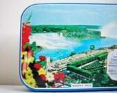 Vintage Souvenir Niagara Falls Toffee Candy Collectible Tin