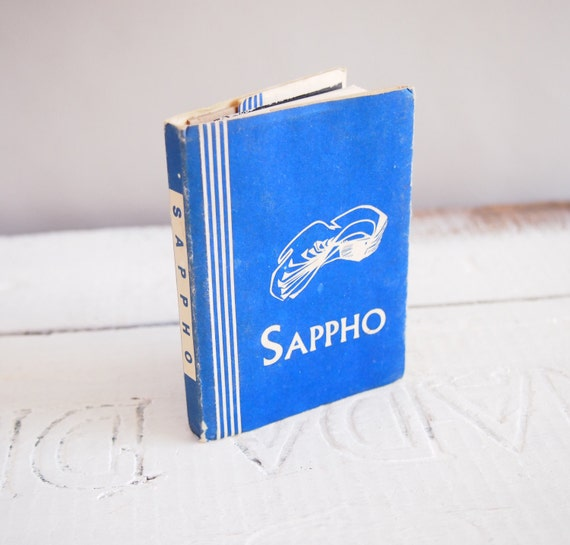 Vintage Blue Pocket Sappho Poetry book...Little Humanist Library